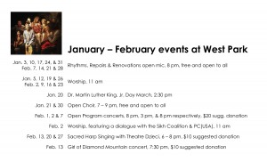 January – February Events